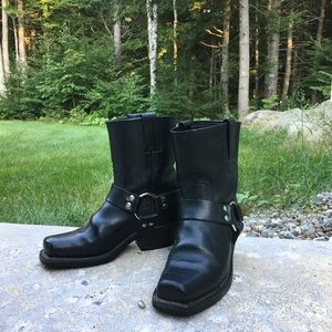 Frye Shoes | 8r Harness Boots Black | Poshmark